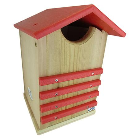 JCs Wildlife Cedar and Poly Screech Owl or Saw-Whet Owl House Nesting Box, Red Barn Owl Nesting Box