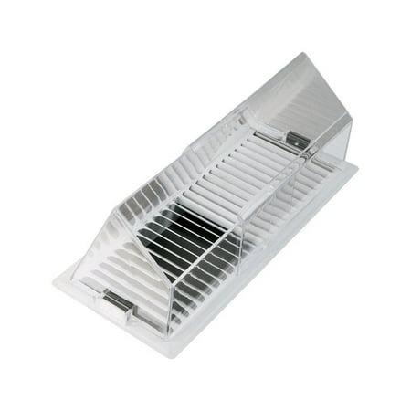 Deflect-O  Jordan  4-1/4 in. H x 4-13/16 in. D Silver  Plastic  Air Deflector