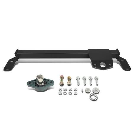 Doggie Gear (For 2003 to 2008 Dodge Ram 2500 3500 4WD / AWD Mild Steel Steering Gear Box Stabilizer Brace / Bar (Black) - Type)