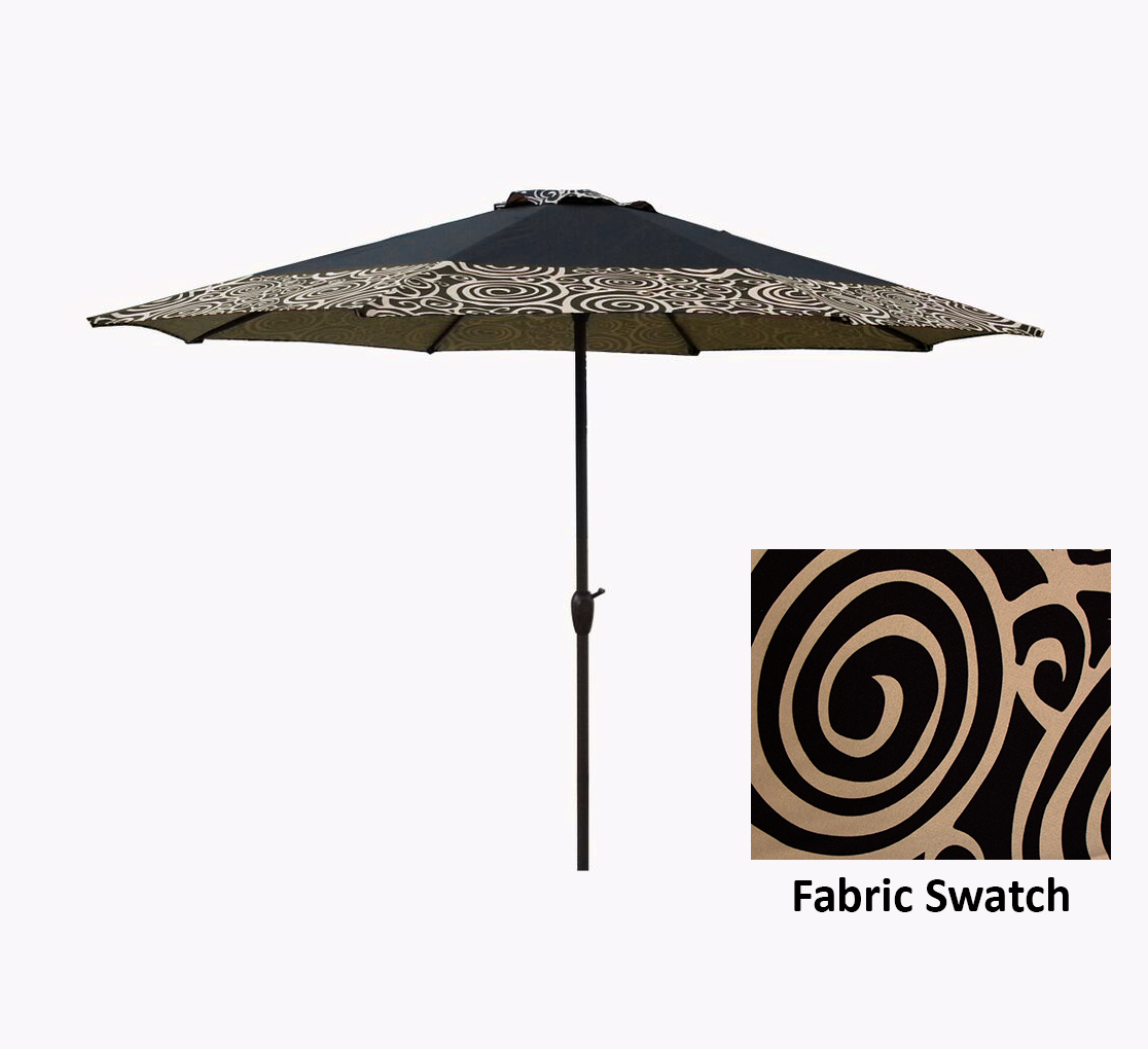 9 Outdoor Patio Market Umbrella With Hand Crank And Tilt