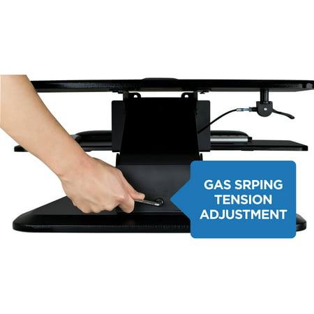 Mount-It! Sit Stand Desk Converter, Ergonomic Height Adjustable Tabletop Standing Desk, MI-7916 ()