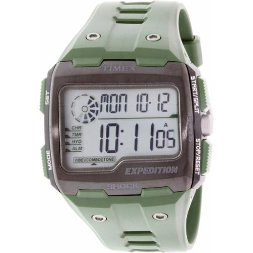 Timex Men's Expedition TW4B02600 Green Rubber Quartz Watch