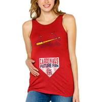 St. Louis Cardinals Soft as a Grape Women's Maternity Tank Top - Red