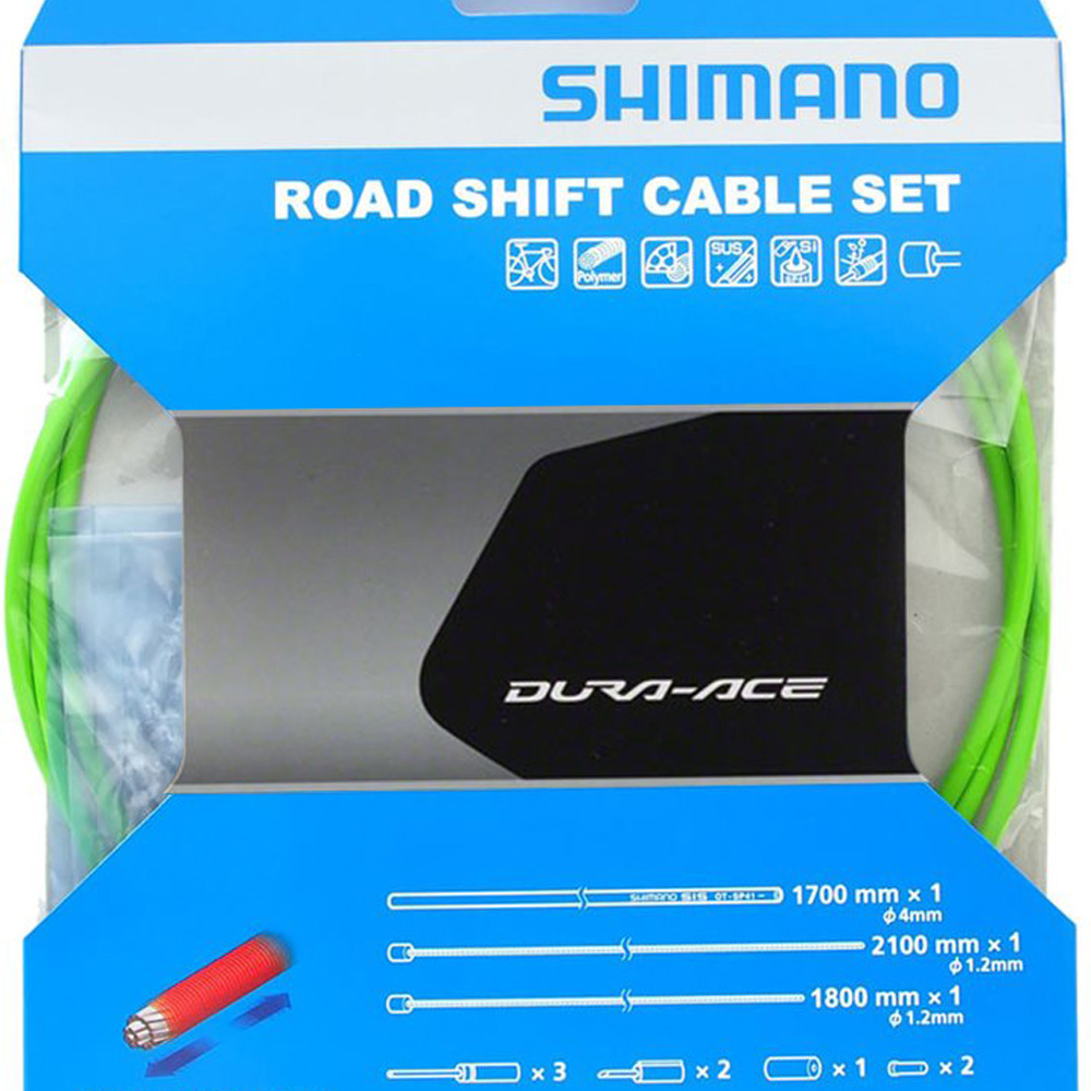 Shimano Dura-Ace SP41 Polymer-Coated Derailleur Cable Set Blue Road