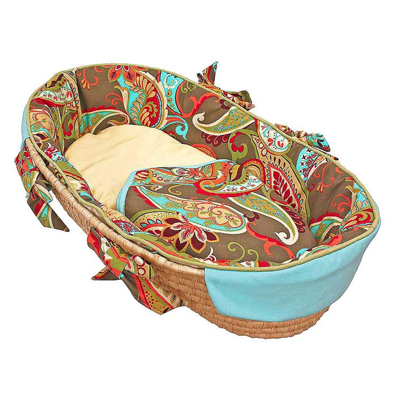 Hoohobbers Captiva Moses Basket - Tailored