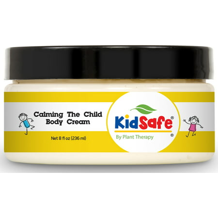 Plant Therapy KidSafe Calming the Child Body Cream 8 oz Aromatherapy Natural