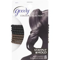 Goody Colour Collection Elastic, SPH, Black & Brown, 8 Count