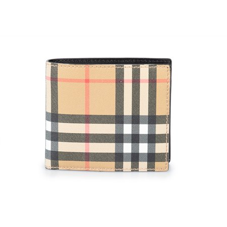 Burberry Vintage Check International Bifold Coin Wallet (Burberry Check Buckle)