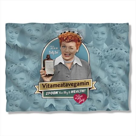I Love Lucy Vitameatavegamin Poly 20X28 Pillow Case White One - Lucy Vitameatavegamin