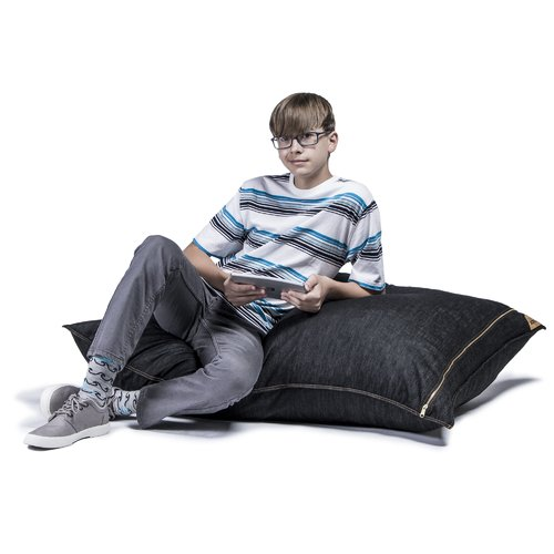 jaxx Denim 3.5  Pillow Saxx Bean Bag Lounge