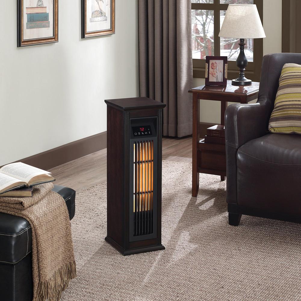ChimneyFree Infrared Quartz Heater, Dark Espresso