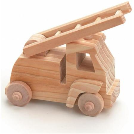 Wood Toy Kit 4 in. x 4 in. 1-Pkg-Fire Truck