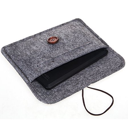 Bear Motion for New Fire HD 6 Tablet - Premium Felt Sleeve Case for Fire HD 6 (Oct 2, 2014 Release) - Gray - image 1 of 2