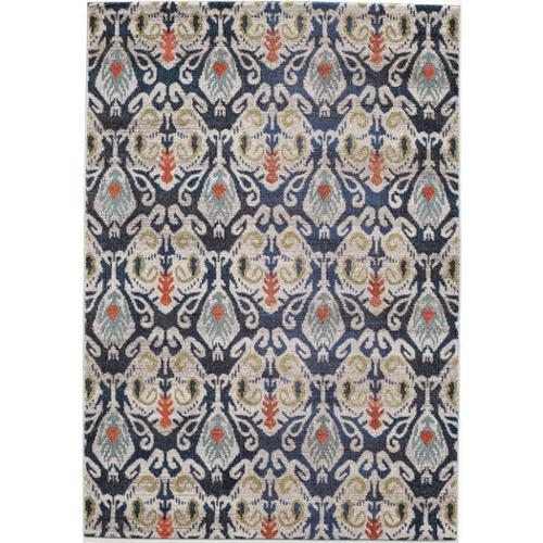 Momeni Abode Navy Power-Loomed Ikat Rug (5'3 x 7'6) by Momeni