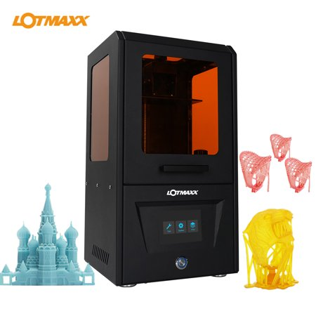 LOTMAXX -10 UV LCD 3D Printer Assembled Innovation with 3.5 Inch Smart Touchscreen 2K High-Resolution Off-Line Printing High Accuracy Mute Printing Easy Leveling 4.7*2.7*6.1 Printing Size