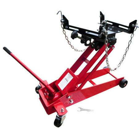 Hiltex 1000 lb 1/2 Ton Transmission Floor Jack Adjustable Lift | Safety Chains ()