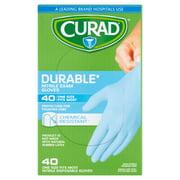 Curad Nitrile Disposable Exam Gloves OSFM, 40 count