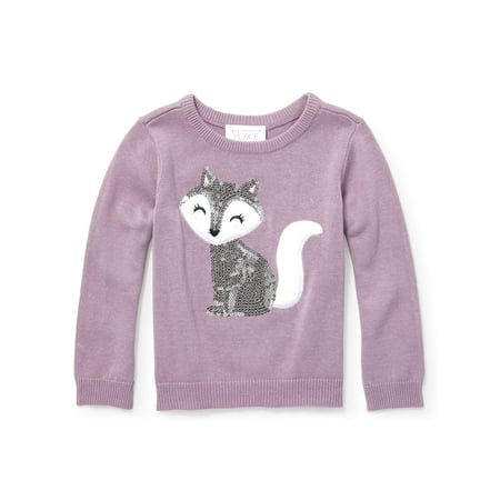 a63ee52bf Baby And Toddler Girls Long Sleeve Sequin Graphic Icon Sweater