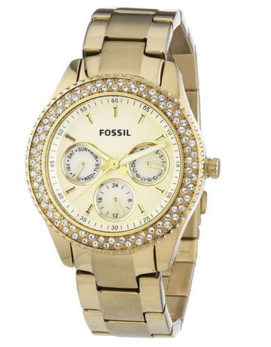 Fossil Women's Stainless Steel Analog Gold Dial Watch ES3101 [Watch] Fossil by Fossil