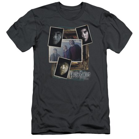Harry Potter - Trio Collage - Premium Slim Fit Short Sleeve Shirt - XX-Large
