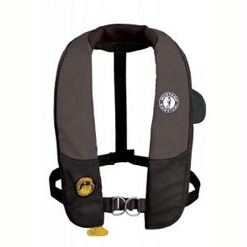 Mustang Survival MD3184-U-BK/CR Mustang Survival Auto Hydrostatic Inflatable PFD with Harness - Black/Carbon