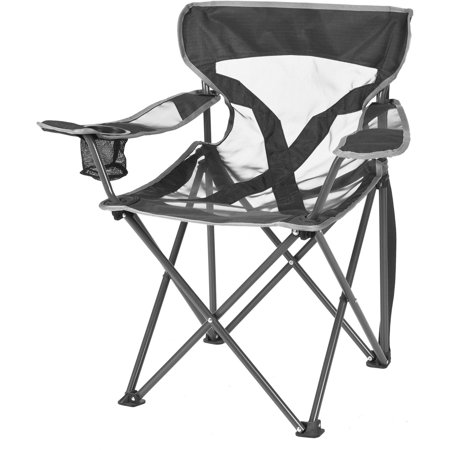 Ozark Trail Deluxe Youth Steel Frame Mesh Chair, Grey