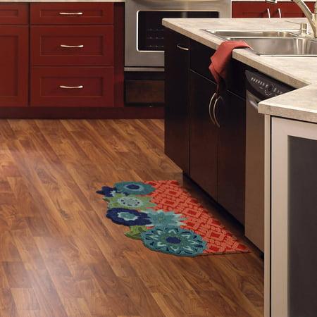 mohawk home gypsy flowers memory foam kitchen mat. Black Bedroom Furniture Sets. Home Design Ideas