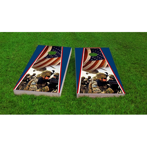 Custom Cornhole Boards Armed Forces Light Weight Cornhole Game Set by Custom Cornhole Boards