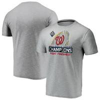 Washington Nationals Fanatics Branded 2019 World Series Champions Locker Room Space Dye T-Shirt - Gray