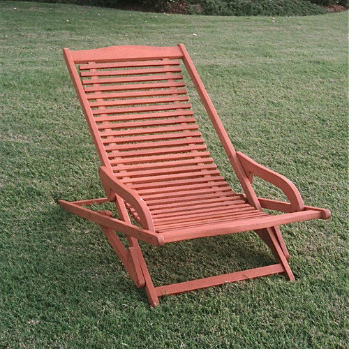 International Caravan Oslo Outdoor Contemporary Folding Patio Lounge Chair