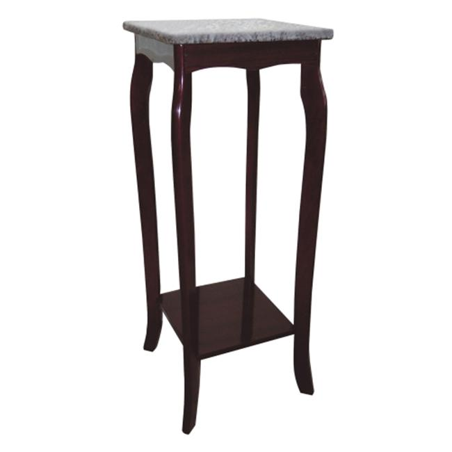 Ore International JW-118M Cherry Phone Table with Marble Top