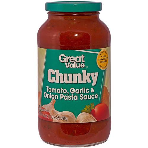 Great Value Garlic & Onions Pasta Sauce, 24 oz
