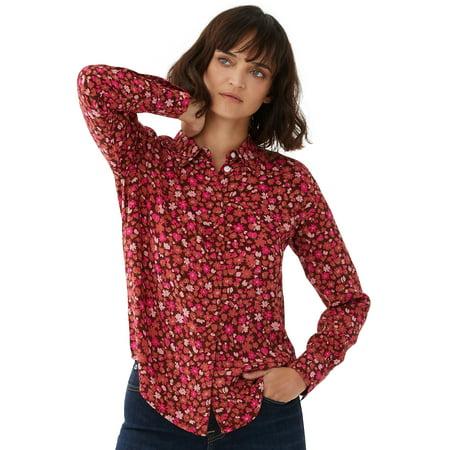 Free Assembly Women's Viscose Put Together Shirt