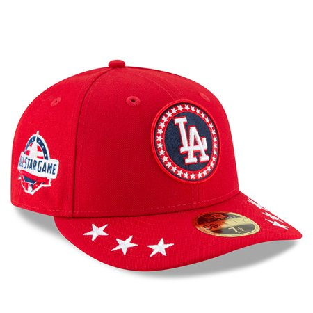 90139679039cc0 Los Angeles Dodgers New Era 2018 MLB All-Star Workout On-Field Low Profile  59FIFTY Fitted Hat - Red - 7 1/8 - Walmart.com