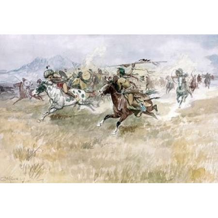 Indian Ambush Poster Print by  Charles M Russell