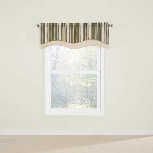 Belle Maison USA, LTD. Maxton Layered Scalloped Valance with Cording 52� x 17� by Belle Maison USA Ltd.