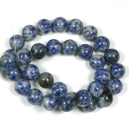 Lapis Gemstone Round Bead (12mm Denim Lapis Round, Loose Beads, 40cm 15 inch Stone)