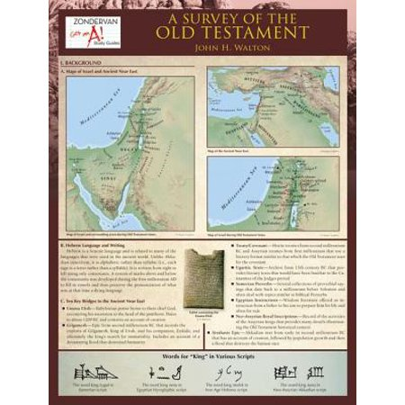 Zondervan Get an A! Study Guides: A Survey of the Old Testament Laminated Sheet