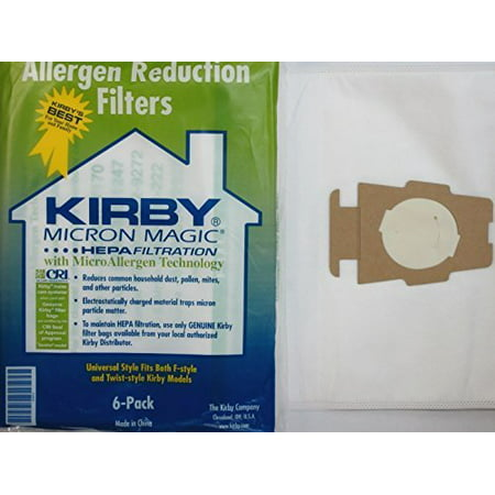 - Kirby Part 204811 - Genuine Style F HEPA Filtration Vacuum Bags for all Sentria Models (6 Bags and 2 Belts)