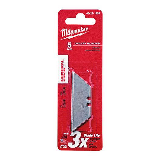 Milwaukee 48-22-1905 General Purpose Utility Knife Blades (5-Pack)