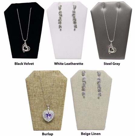 Novel Box™ Leaning Earring/Pendant Jewelry Display Stand (Pack of 3) 5X3.5""
