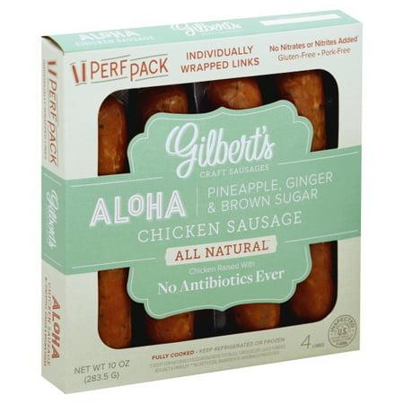 Gilbert's Aloha Pineapple, Ginger & Brown Sugar Chicken Sausage, 10 Oz