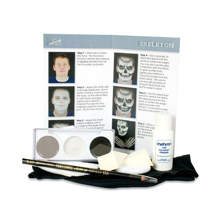 Skeleton Makeup Halloween Makeup (Skeleton Makeup Character Kit)