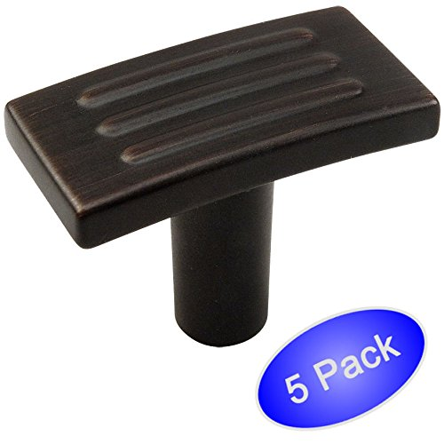 Cosmas 9604ORB Oil Rubbed Bronze Modern Cabinet Hardware T Knob - 5 Pack