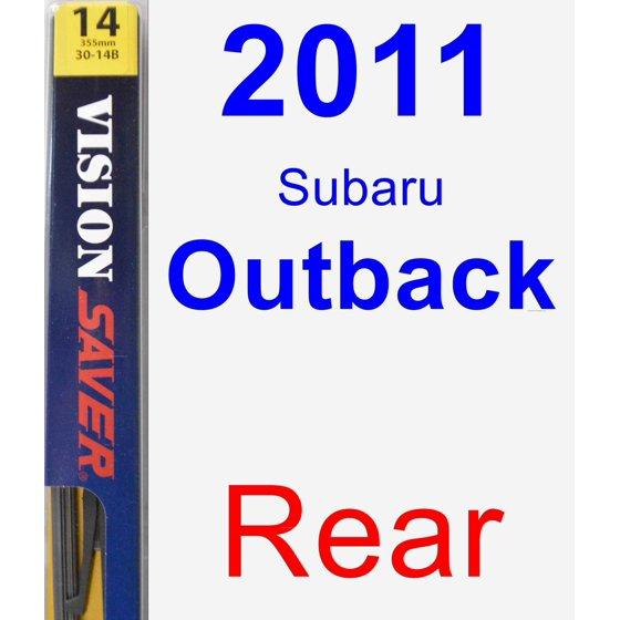 2011 Subaru Outback Rear Wiper Blade Rear Walmart