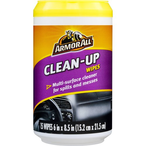 Armor All Clean-Up Wipes, 15 count, 17216, Auto Interior Cleaning