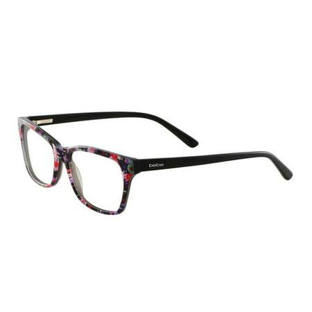 75d0af48212 Bebe Women S Rosy Eyegles Bb5118 Bb 5118 001 Jet Fl Optical
