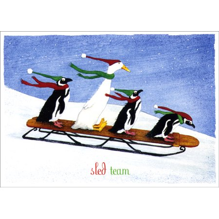 LPG Greetings Sled Team Holiday - Sled Holiday Card