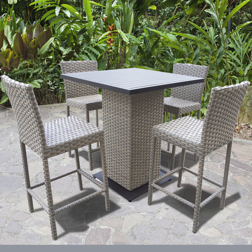 TK Classics Oasis 5 Piece Bar Height Dining Set