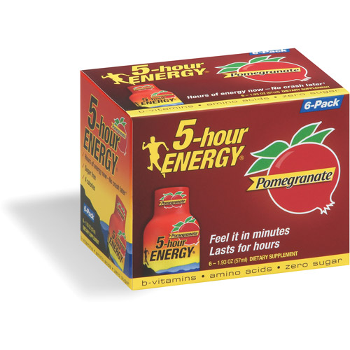 5-Hour Energy Pomegranate Dietary Supplement, 6pk
